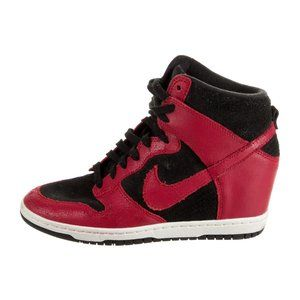 Nike Dunk Sky Hi Wedge Sneaker suede and leather